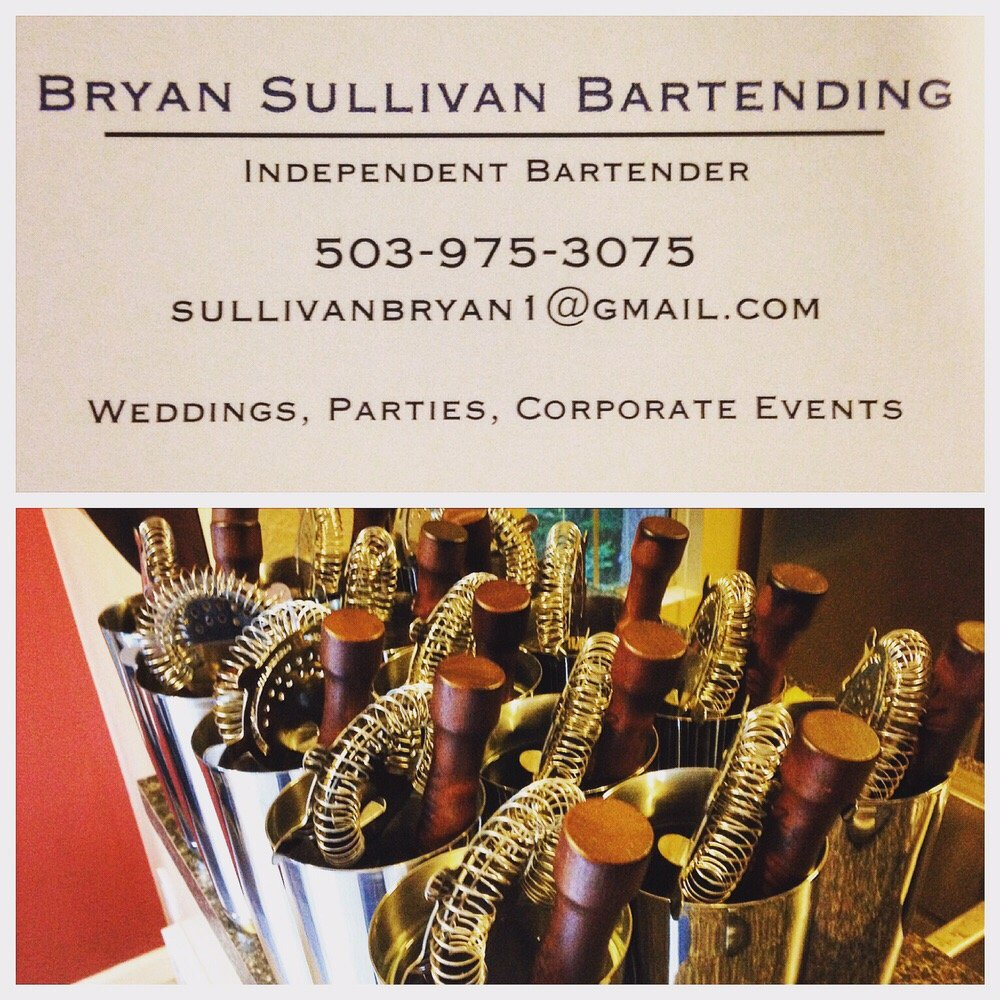 Bryan Sullivan Bartending: Seattle, WA