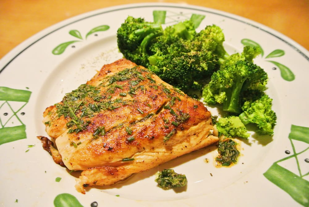 Herb-Grilled Salmon - Grilled salmon filet with Italian ...
