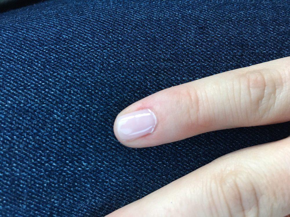 Gel build up around my cuticle. - Yelp