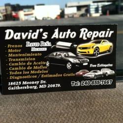 David S Auto Repair Motor Mechanics Repairers 18625