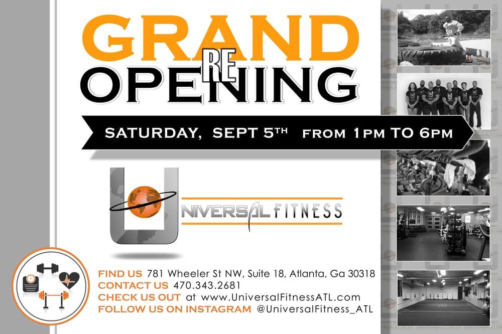Universal Fitness: 781 Wheeler St, Atlanta, GA