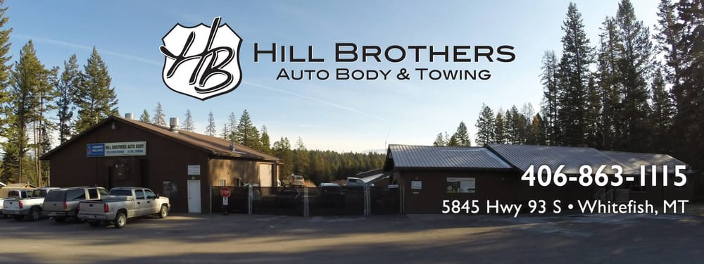 Hill Brothers Auto Body & Towing: 5845 US Hwy 93 S, Whitefish, MT