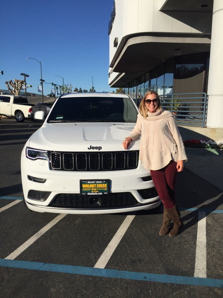 Ashlie With Her 2018 Grand Cherokee High Altitude Off Our Showroom