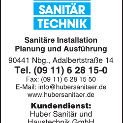 Huber Sanitartechnik Sanitarinstallation U Ko Kg Home Services