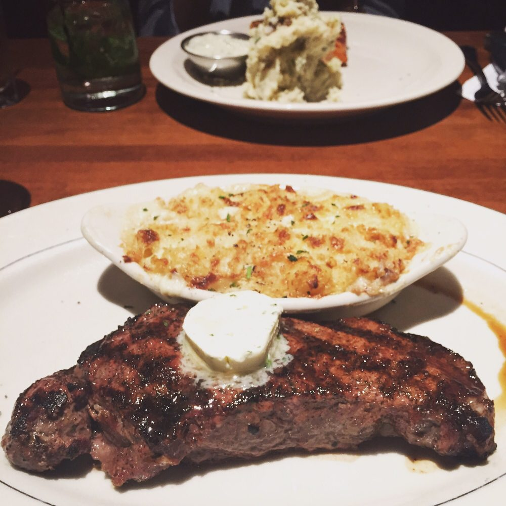 New york strip with mac n cheese yelp for Alexander s greek cuisine