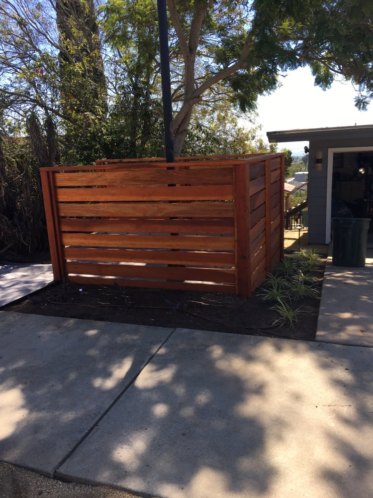 Custom Fence To Hide Trash Cans Yelp