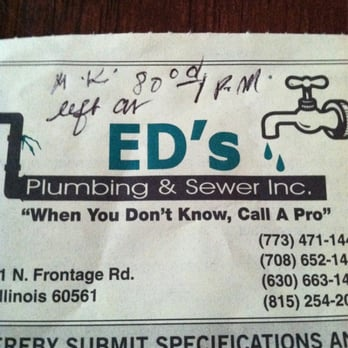 Ed's Plumbing and Sewer - 14 Reviews - Plumbing - Darien, IL ...