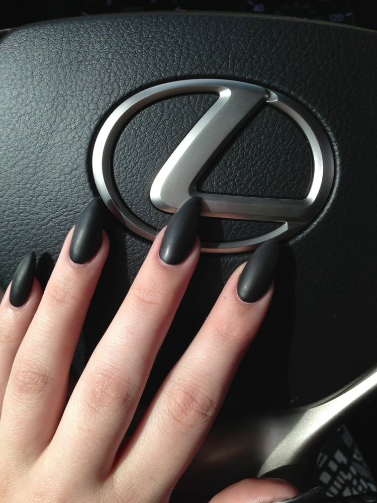 Matte black pointy nails by quan. Thanks quan they are perfect! - Yelp