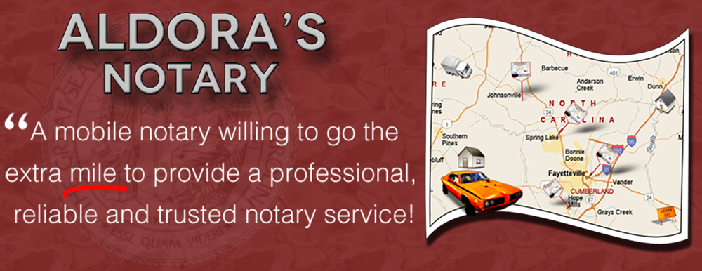 Aldora's Notary Service: 1370 Hwy 24/87, Cameron, NC