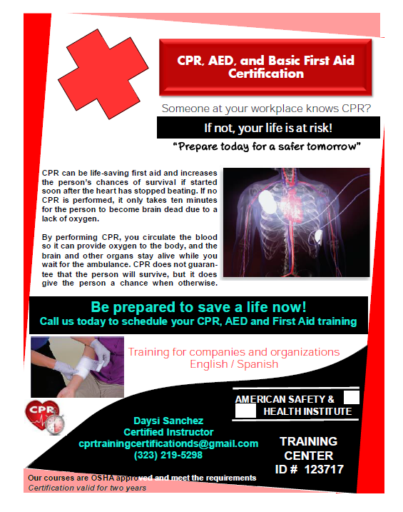 First Aid Cpr Training Cpr Classes Pico Robertson Los Angeles