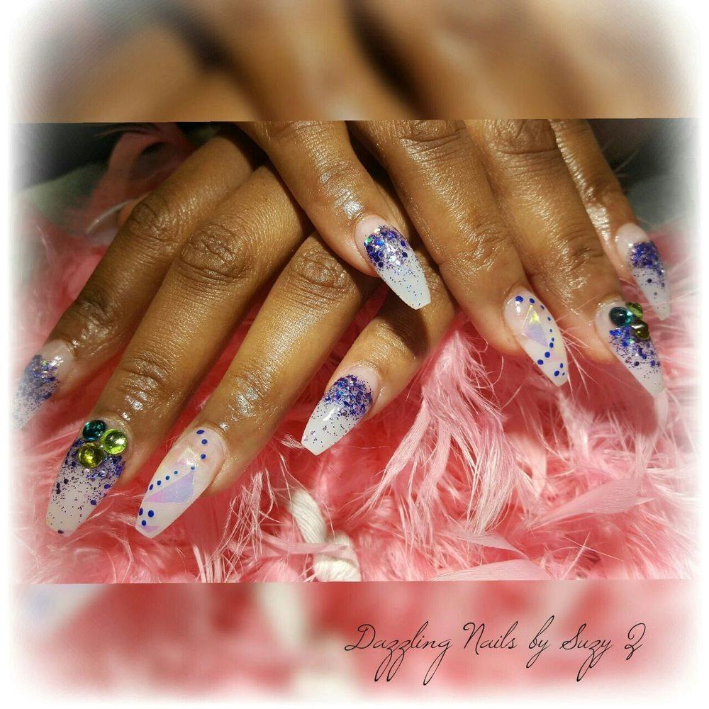 Glitter acrylic nail - Yelp