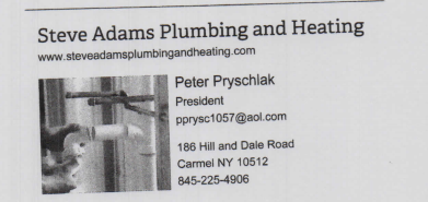 Steve Adams Plumbing & Heating: 186 Hill and Dale Rd, Carmel, NY