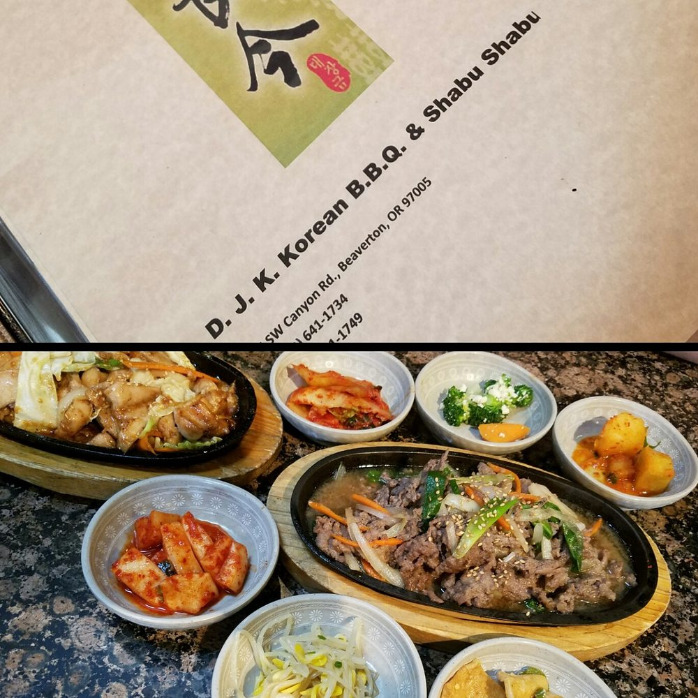 DJK Korean BBQ & Shabu Shabu: 12275 SW Canyon Rd, Beaverton, OR