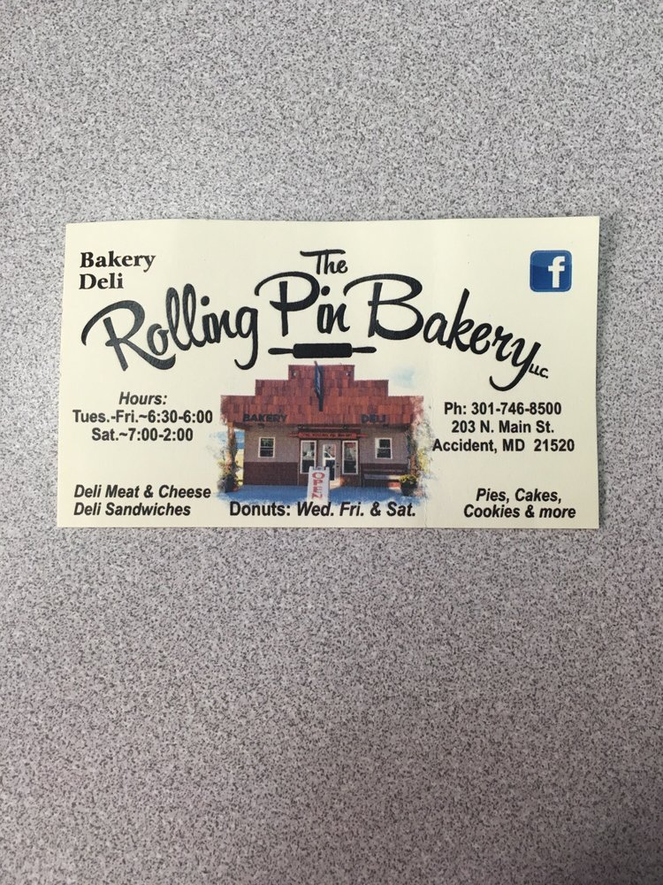 The Rolling Pin Bakery: 203 N Main St, Accident, MD