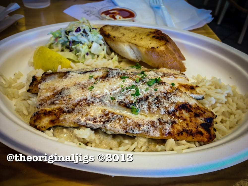 Trout with garlic butter on white rice yelp for Fish dish burbank