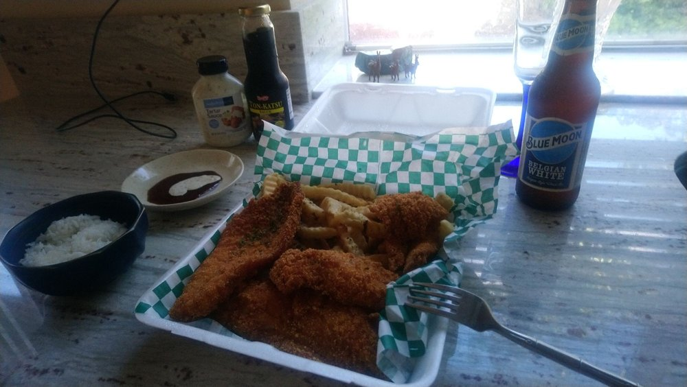 Food from Blazin Fish and Chips