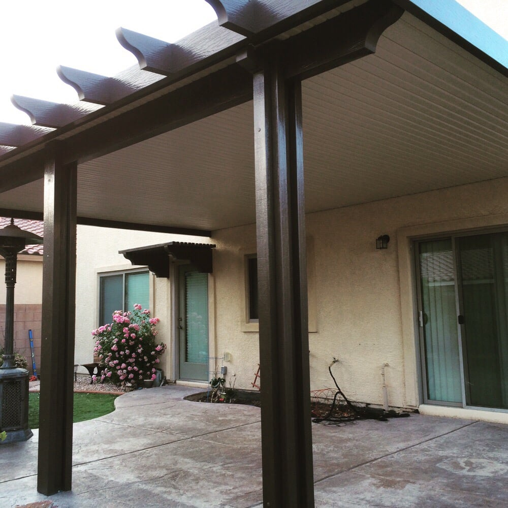 Solid Alumawood Patio Cover Two Color Combination Yelp