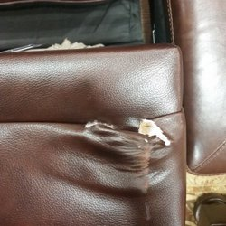 Photo Of Austin Furniture Repair Katy Tx United States Leather Before