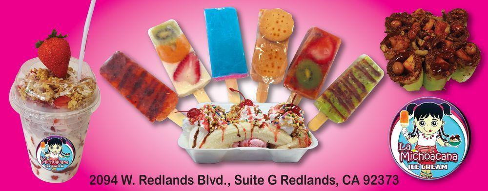La Michoacana Handmade Ice Cream: 2094 W Redlands Blvd, Redlands, CA