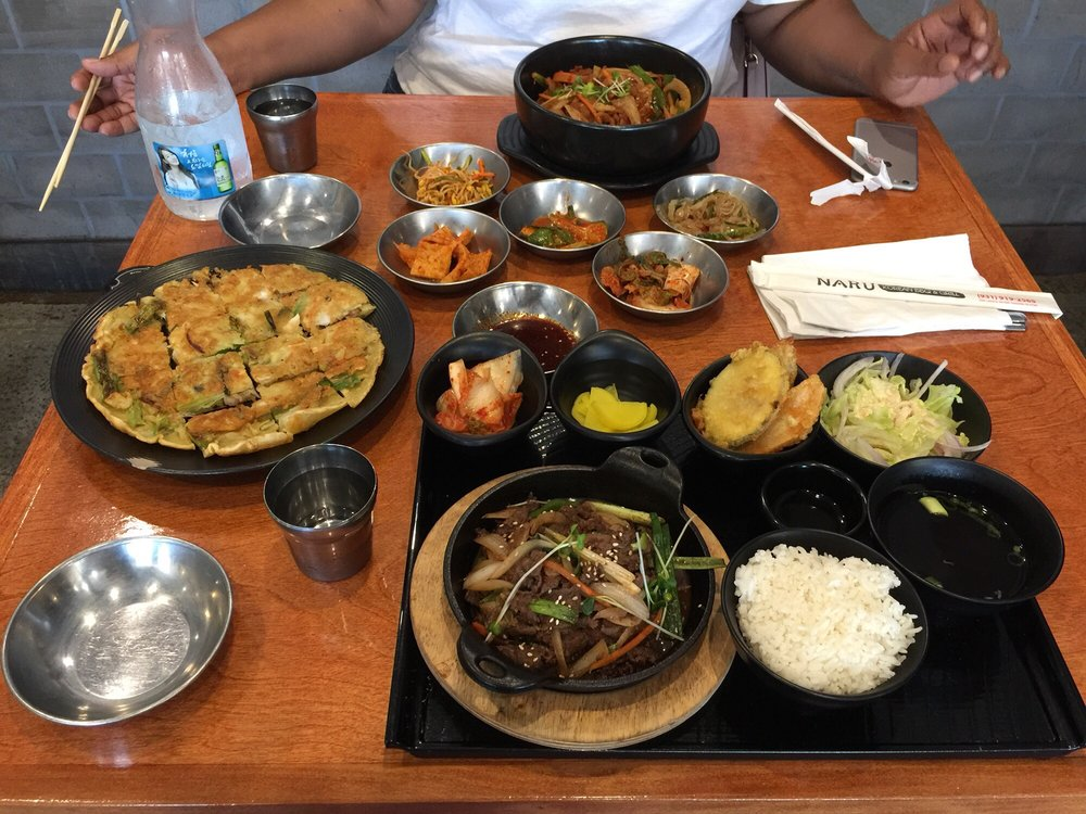 Food from Naru Korean BBQ