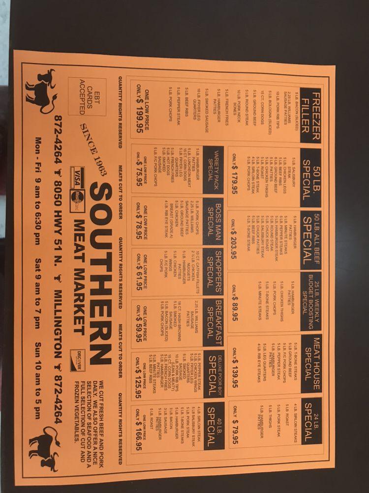 Southern Meat Market: 8050 US Highway 51 N, Millington, TN