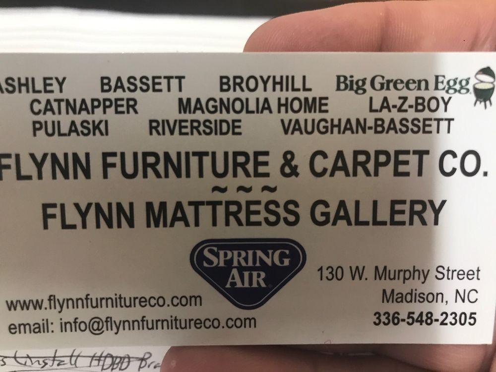 Flynn Furniture & Carpet Co: 130 W Murphy St, Madison, NC
