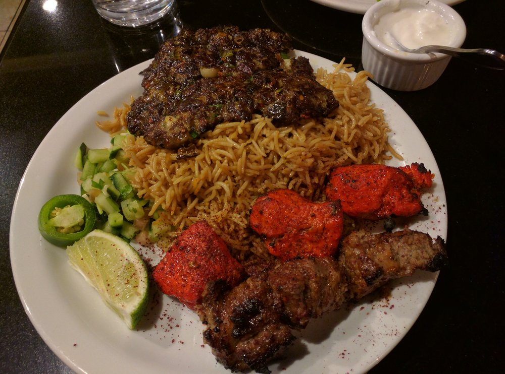 Triple kabob with brown rice yelp for Afghan cuisine fremont