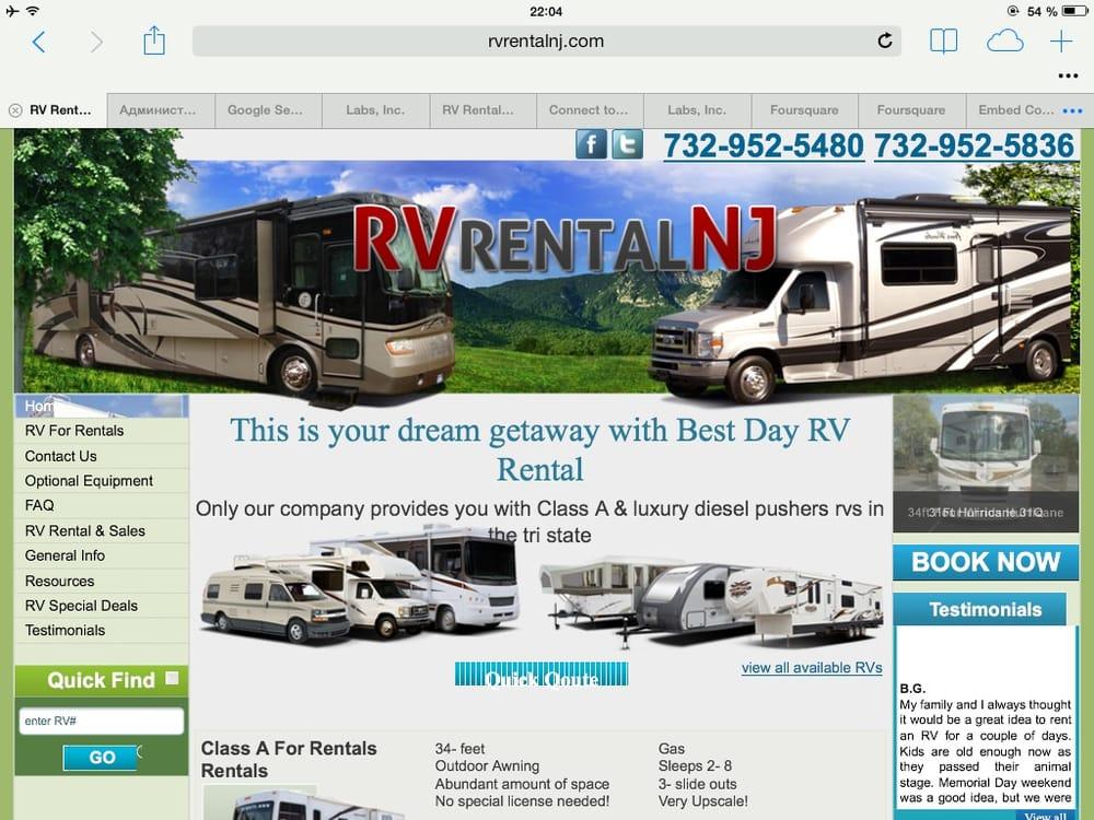 Rv rental nj noleggio camper e caravan 540 bordentown for Noleggio cabina julian dal proprietario