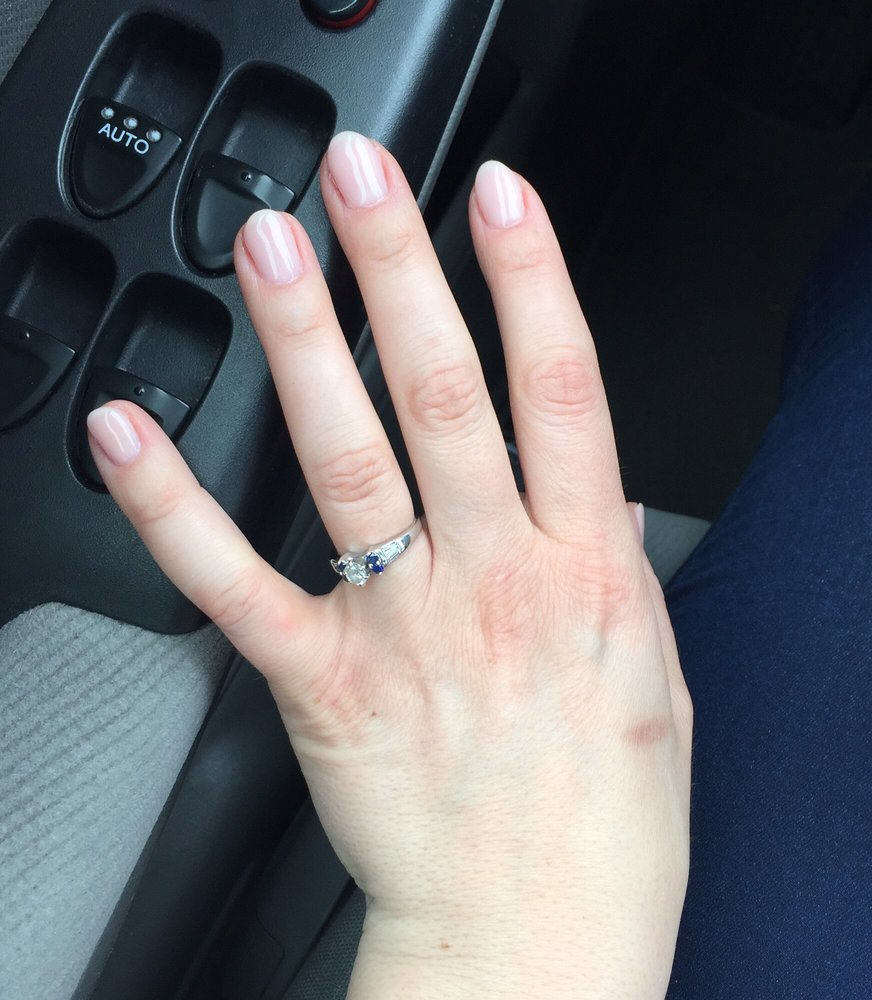 Natural pink nails by Lily :) - Yelp
