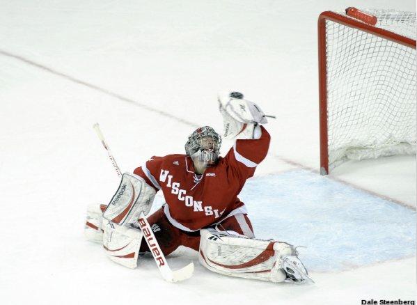 Scott Gudmandson hockey goalie glove save University of