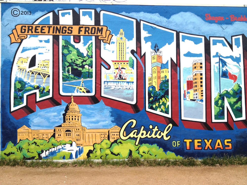 greetings from austin postcard mural 32 photos 17