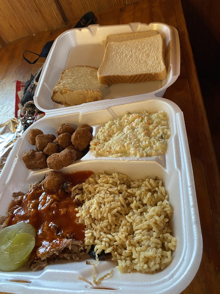 Food from Hook's Bbq