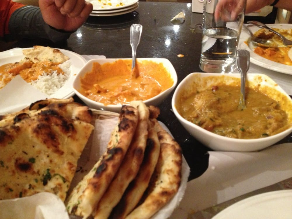 butter chicken coconut chicken curry and garlic naan yelp