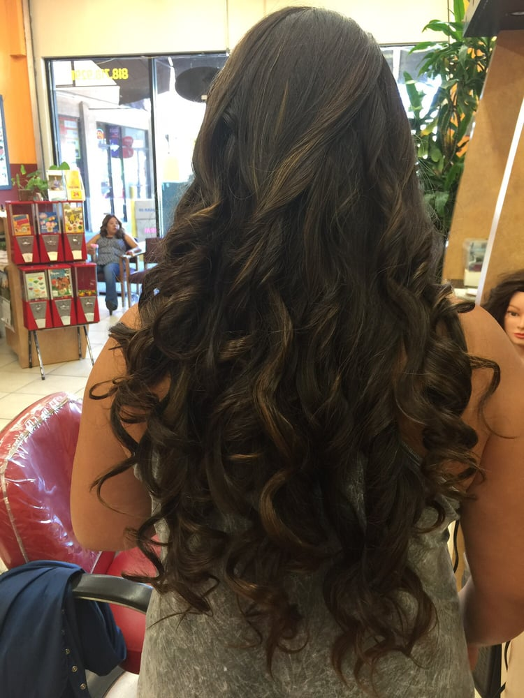 Some simple soft curls yelp for A touch of beauty salon