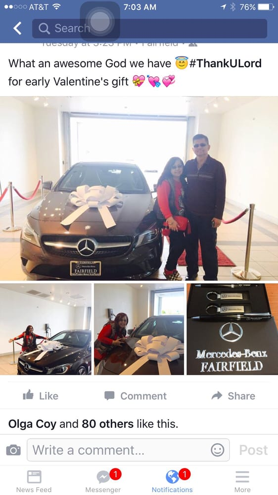 Thankyoulord you have blessed me more than i can imagine for Mercedes benz fairfield ca service
