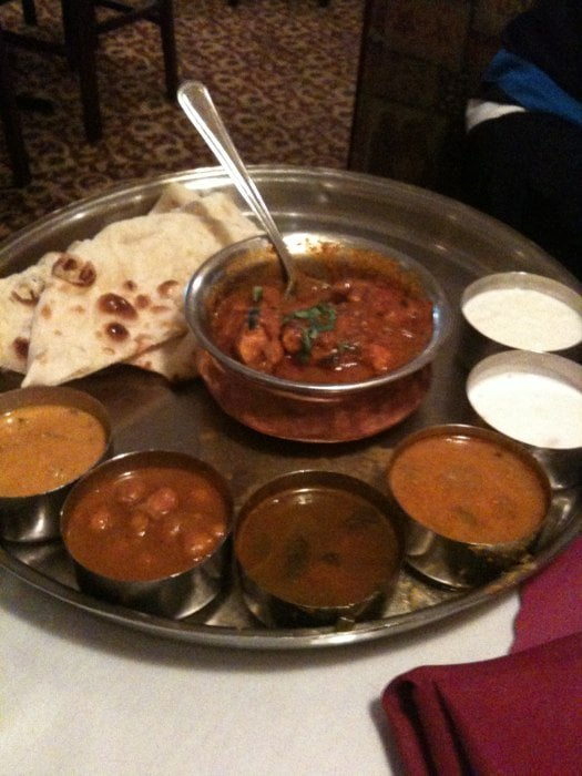 Chicken curry thali what i eat at home everyday yelp for Ashoka the great cuisine of india