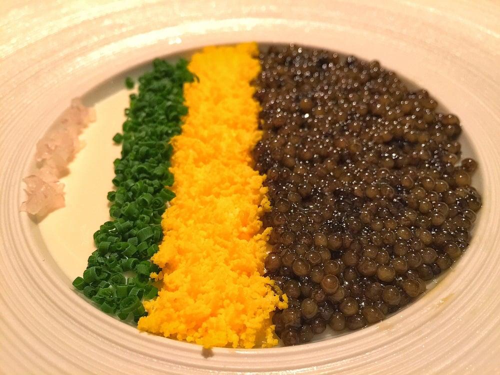 golden osetra caviar panna cotta yelp. Black Bedroom Furniture Sets. Home Design Ideas