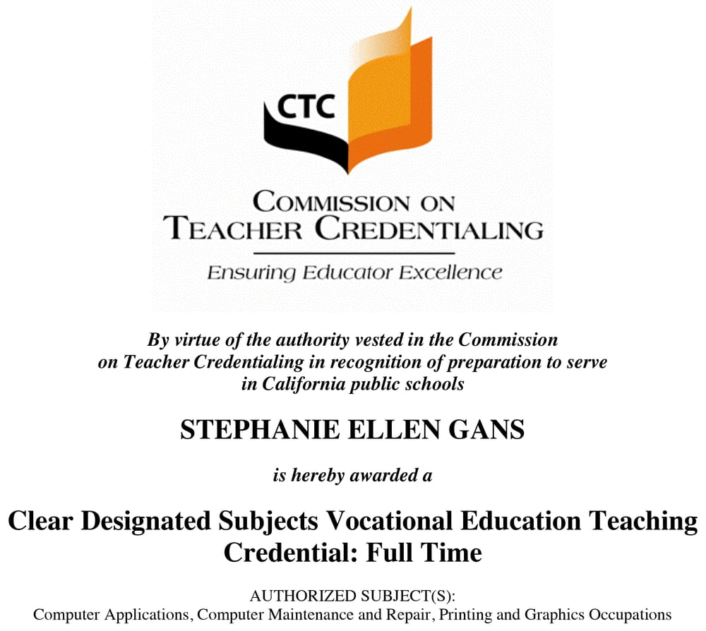 my california teaching credential experience {single ...