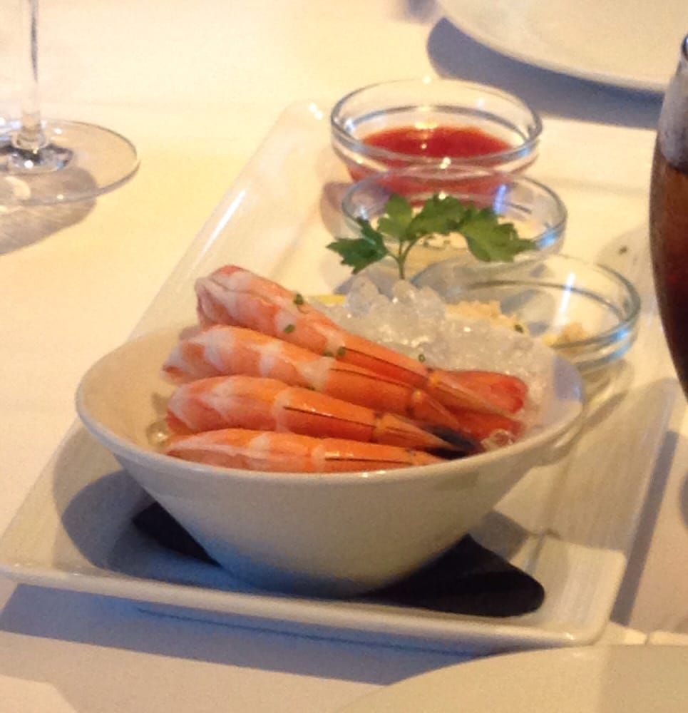 Image result for chilled gulf shrimp eddie v's