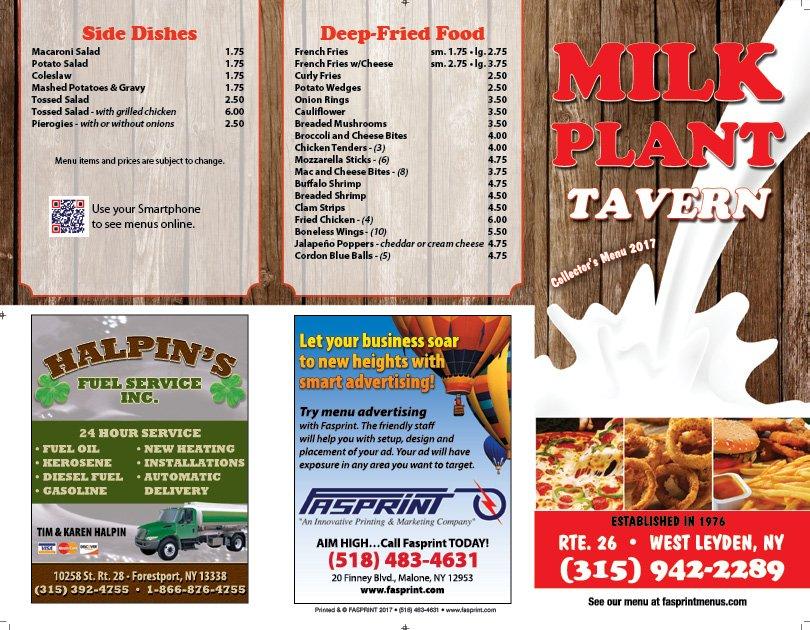 Milk Plant Tavern: 1006 State Rte 26, West Leyden, NY