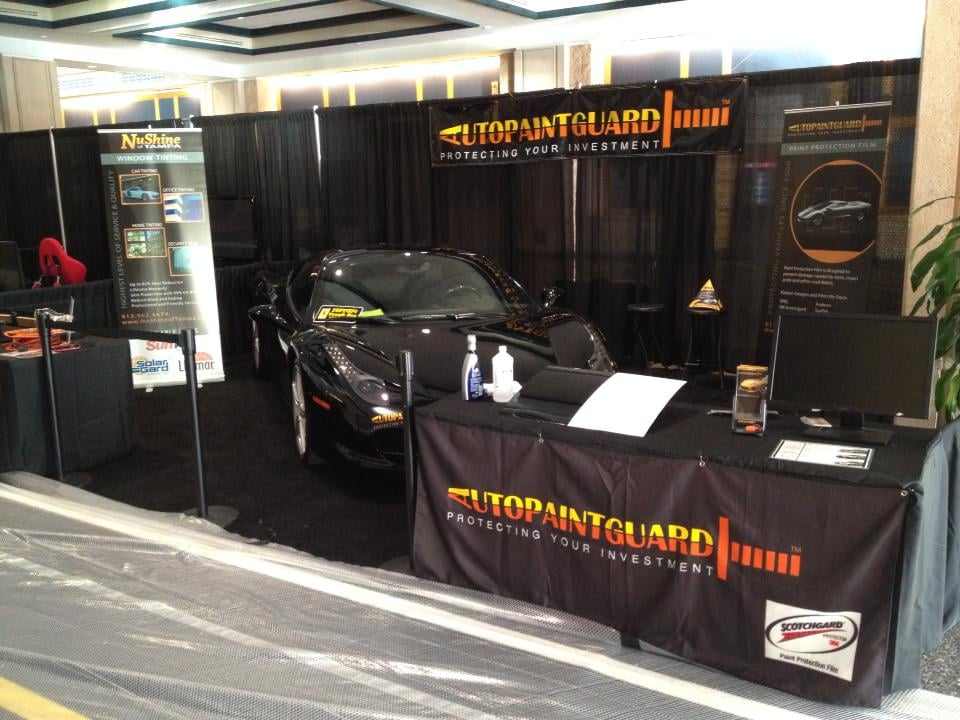 Nushine of tampa and autopaintguard at the tampa auto show for Select motors of tampa tampa fl