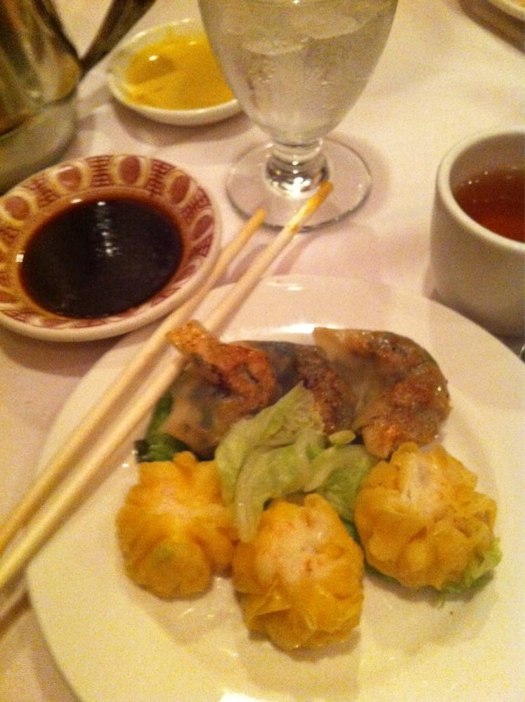 Moon Shaped Fried Vegetable And Round Steamed Crab Siumai Shi Mai Dumplings Yelp