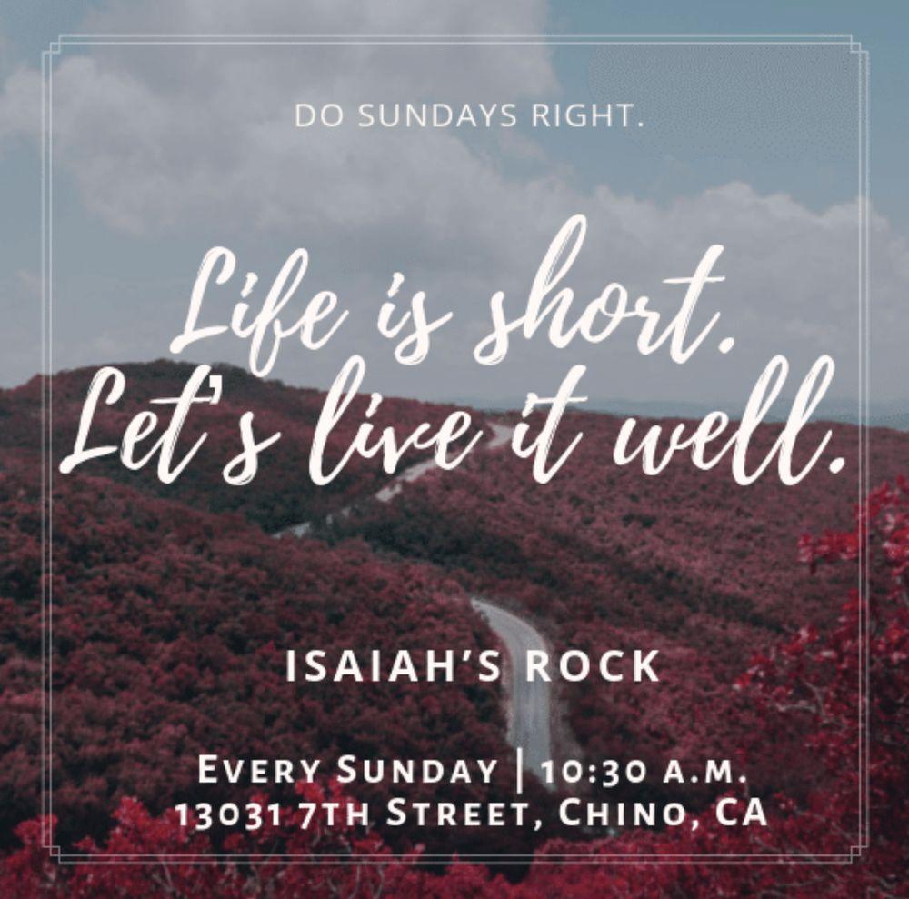 Isaiah's Rock Non-Denominational: 13023 7th St, Chino, CA