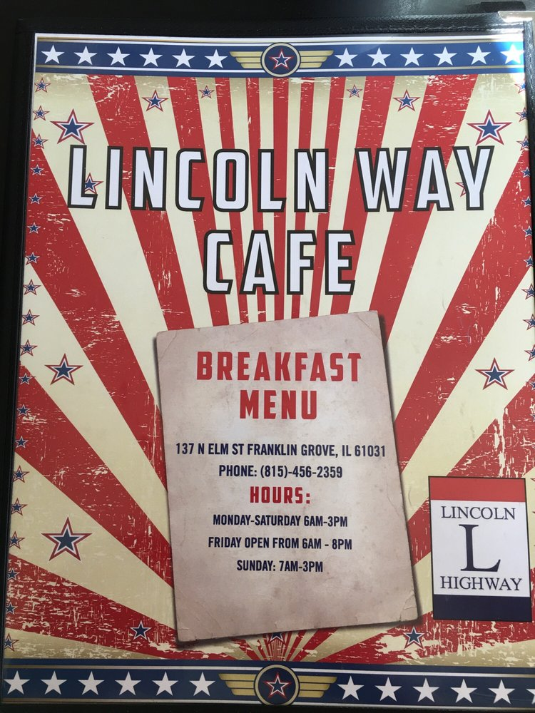 Lincolnway Cafe: 137 N Elm St, Franklin Grove, IL