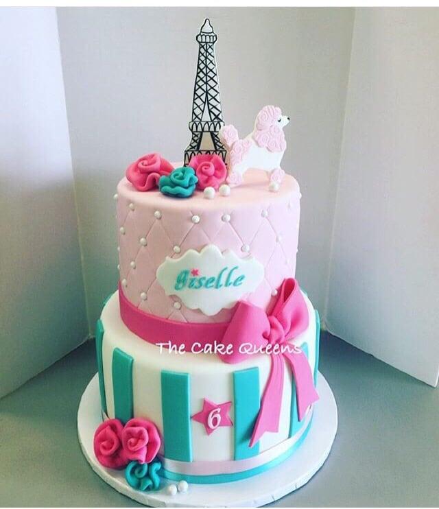 Paris-themed Birthday Cake - Yelp