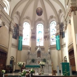 New Stained Glass and Carved Glass for Recent Major Renovation - St. Aloysius  Church -