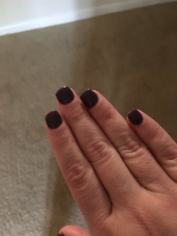 Terrible job on my nails... look how wide they are. - Yelp