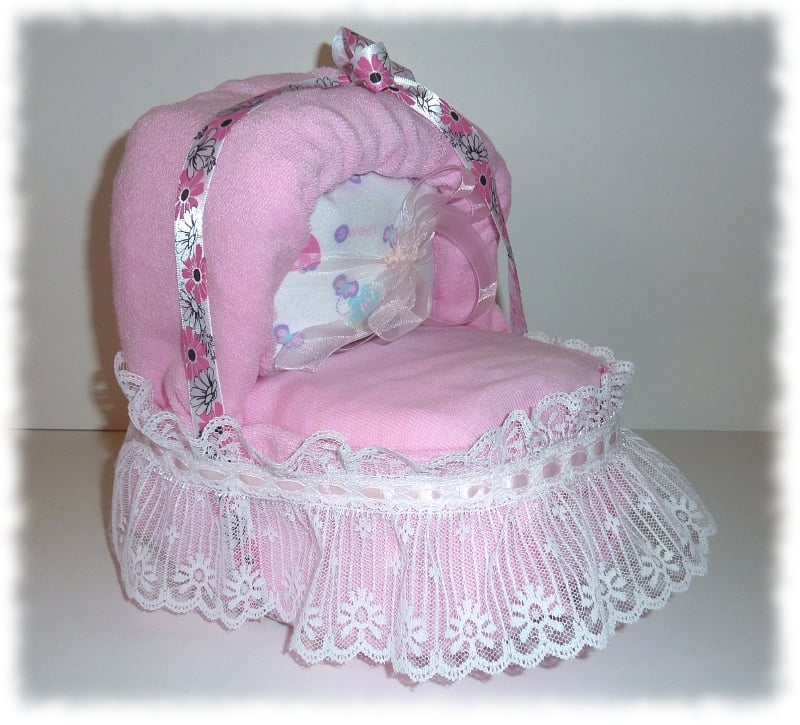 Small Pink Bassinet Diaper Cake Yelp