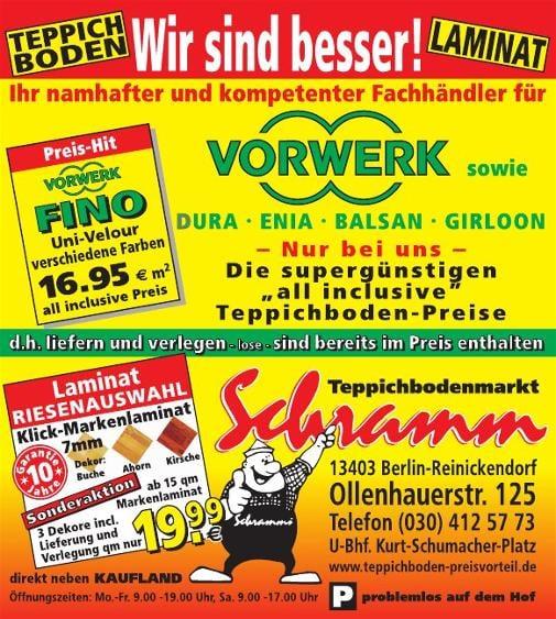 Teppichboden Markt  Schramm  Carpeting  Ollenhauerstr