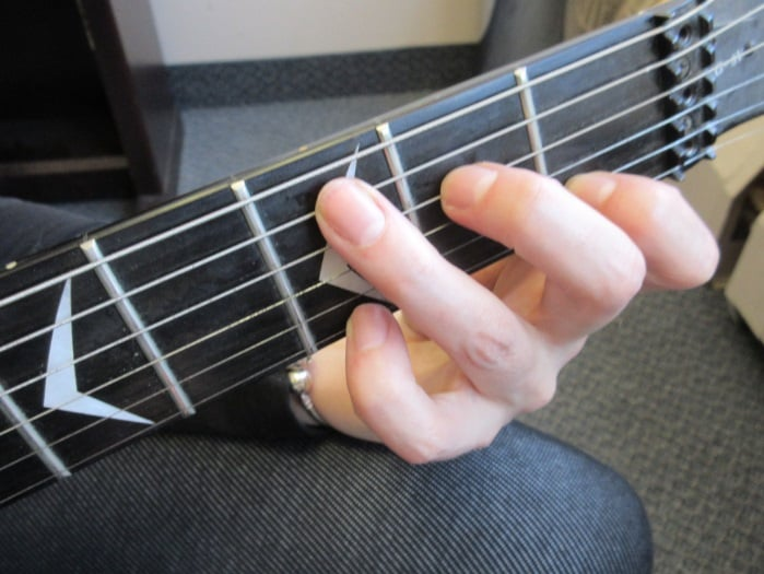 Learning the chords and where to put your fingers on strings of ...